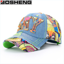 Mens Fashion Muliticor Print 6 Panneau Hip Hop Hat Baseball Cap