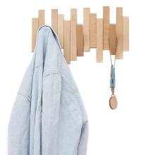 Crochet de suspension en bois de style créatif de taille différente