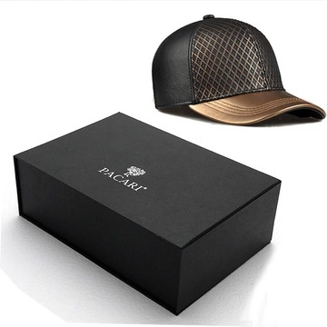 Hat paper box with magnetic closure