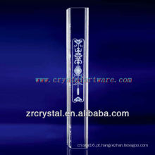pilar de cristal de decoração