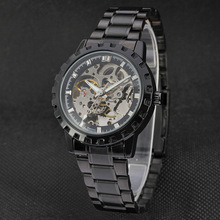 custom brand men watch with skeleton dial design mechanical watch