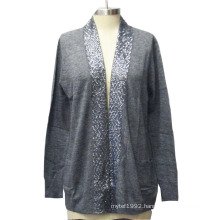 Women Cardigan with Sequin Fashion Sweater Knitwear