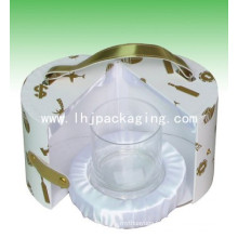 High Quality Round Cup Packaging Gift Box with Blister