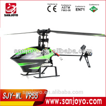 "Mini 2.4G "" Flybarless "" remote control helicopter rc toys china V955 4ch with gyro flybarless helicopter"