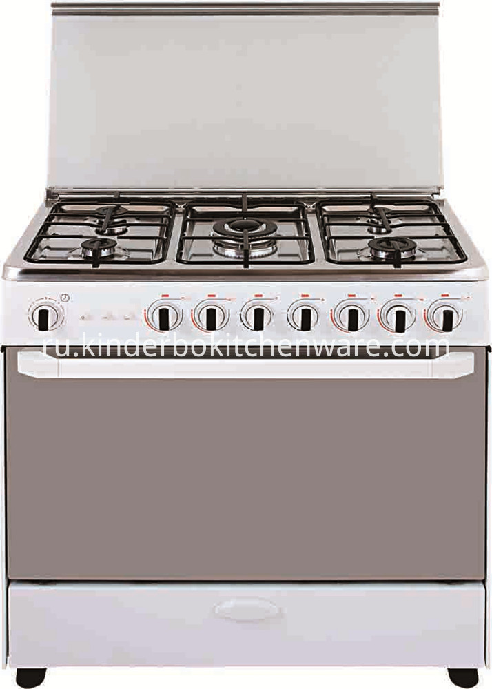Restaurant equipment free standing 4 burners cooker gas range gas stove with electric oven