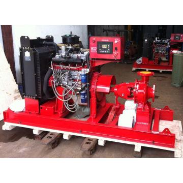 Unidade de bomba de água diesel de combate a incêndio
