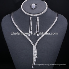 Dubai bold jewelry set wedding jewelry supplier with AAA cz stone