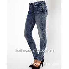 2014 New U'sake China Supplier Low Waist Skinny Denim Jeans Pants S149022