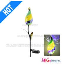 Estaca de luces de jardín accionada solar de cristal superior de la venta