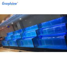 Restaurant wholesale seafood display case live fresh fish tank