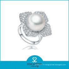 Anneau de perles en argent sterling Wholeslae (SH-J-0102R)