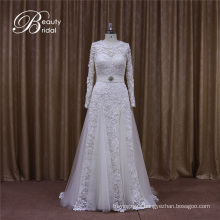 Long Sleeves Aline Wedding Dress