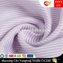 Tecido de camisa de manga macio com design clássico de listras com sensação à mão
