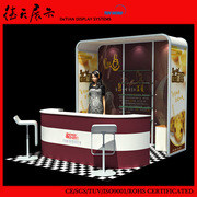 Personality Custom Design Aluminum Booth Exhibit Display For Food