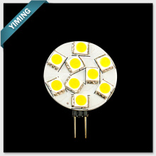 5050SMD G4 LED Light Round 1.5W 9pcs 120-150LM