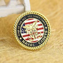 Moneda de desafío militar de metal de oro de alta calidad personalizada
