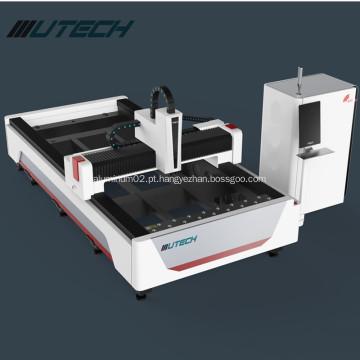 Máquina de corte de metal a laser de fibra para aço inoxidável