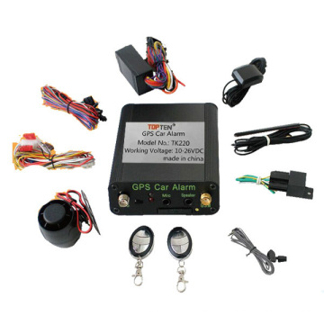 Система слежения GPS / GSM / GPRS с SIM-картой, дистанционным автомобильным стартером и бесплатная онлайн-платформа Tk220-Ez