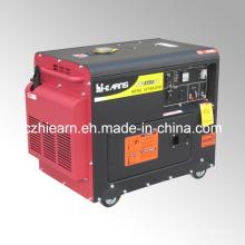 Conjunto de generador de energía diesel silencioso portátil del motor 6kw (DG8500SE)