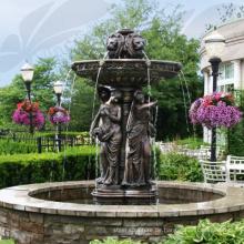 69 Beliebte Designs Wasserbrunnen mit Lady Statue (15 Jahre Gießerei)