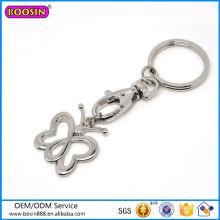 Liga de metal jóias de prata borboleta chaveiro venda quente