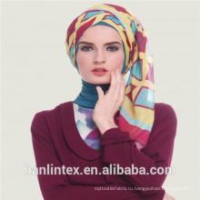 Скрученная полиэфирная вуаль с белой тканью 40gsm до 70gsm / T 50s окрашенный полиэфирный вуаль-шарф