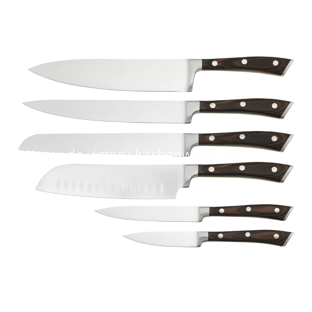 Pakka Wood Handle Kitchen Knife