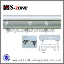 Durable waterproof flexible PVC shower curtain rail, curtain track, rail ceiling for curtain