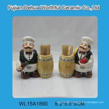 Ceramic chef design toothpick holder,tableware