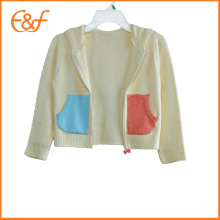 Pull tricoté pull bébé motif cardigan avec capuche