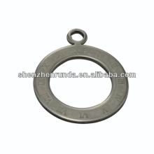 China fabricante, 2014 moda em aço inoxidável círculo pingente com relógio