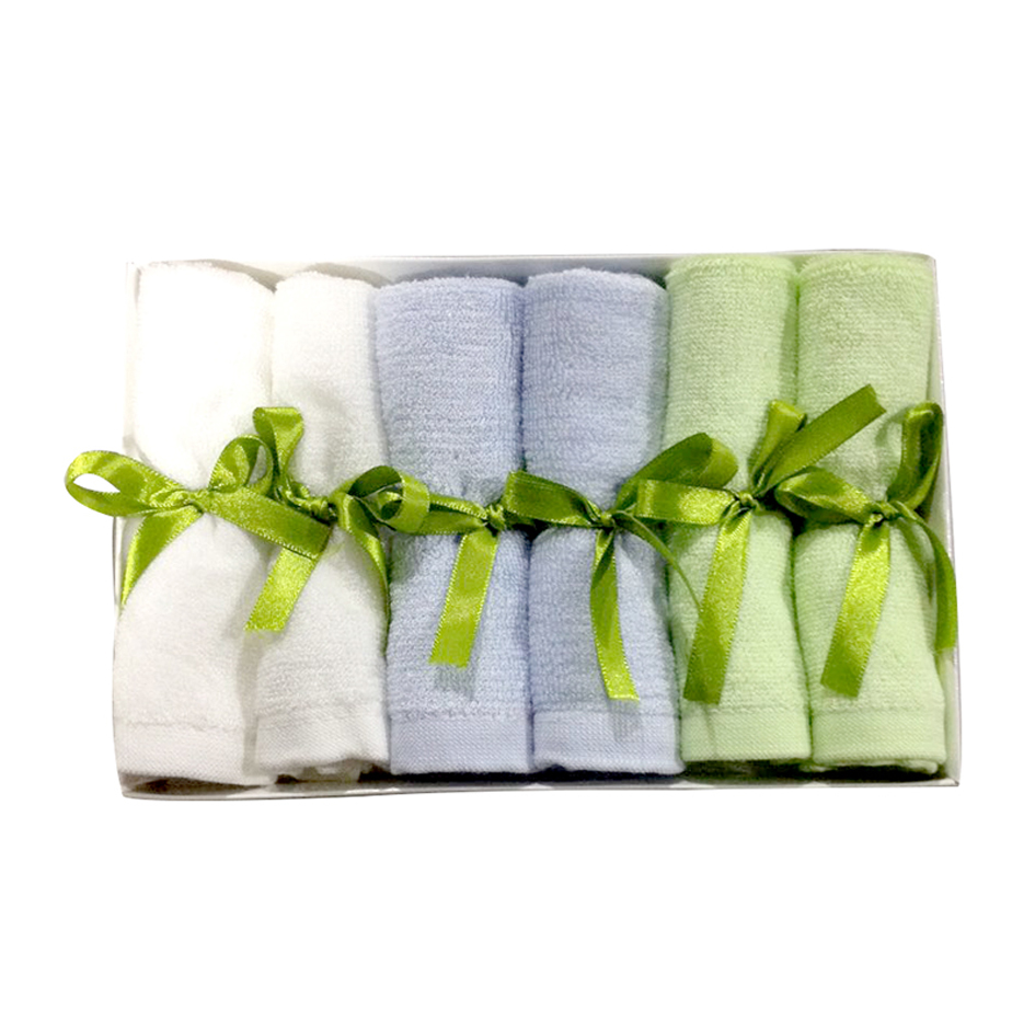 Wash Cloths Soft Mini 25 X 25cm Baby Bamboo Diapers Towel