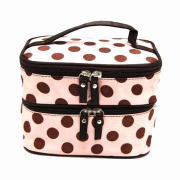 Polyester Cosmetic Bags, Customized Sizes and Designs Accepted
