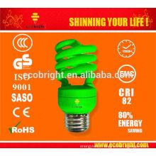 HOT! T2 13W COLOUR HALF SPIRAL ENERGY SAVING LAMP