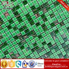 China Fabrik Versorgung grün gemischt Bodenfliese Hot - schmelzen Mosaikfliesen