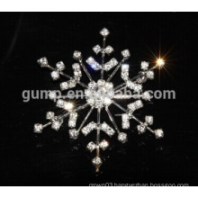 custom snowflake rhinestone brooch pins