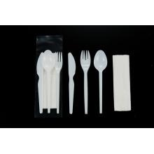 Set de cubiertos de plástico 2,2 g Cuchara cuchillo tenedor servilleta
