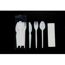 Plastic Cutlery Set 2.2g Spoon Knife Fork Napkin