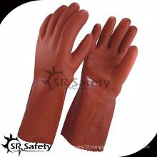SRSAFETY Orange pvc industrial gloves