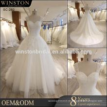 OEM ODM kundengebundene Beschreibung des Hochzeitskleides