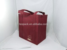 2016 Free Sample Shopping Bag Use and Non woven Fabric Material colored bags with handles