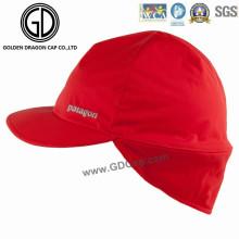 2016 de alta calidad Impermeable Poliéster Earflap Cap / Sports Racing Cap
