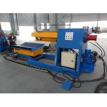 8 Tonnen Automatischer Hydraulik-Abwickler mit Spulenwagen für Rollenformmaschine