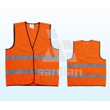 Jy-7011 Chaleco de seguridad de alta visibilidad de poliéster 100%, Chaleco de alta visibilidad