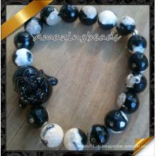 Schwarze Achat-Buddha-Armbänder Schmucksachen (CB071)