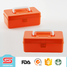 Recipiente de armazenamento plástico shunxing da caixa de ferramentas do material da qualidade superior com tampa for sale