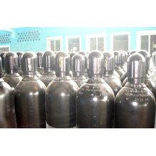 Cilindro de aço inoxidável sem emenda de alta pureza do gás de nitrogênio