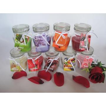 Scented Classic Glass Candle with Lid
