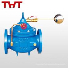 Soupape de contrôle de niveau d'eau à boule flottante télérupteur automatique en fonte ductile