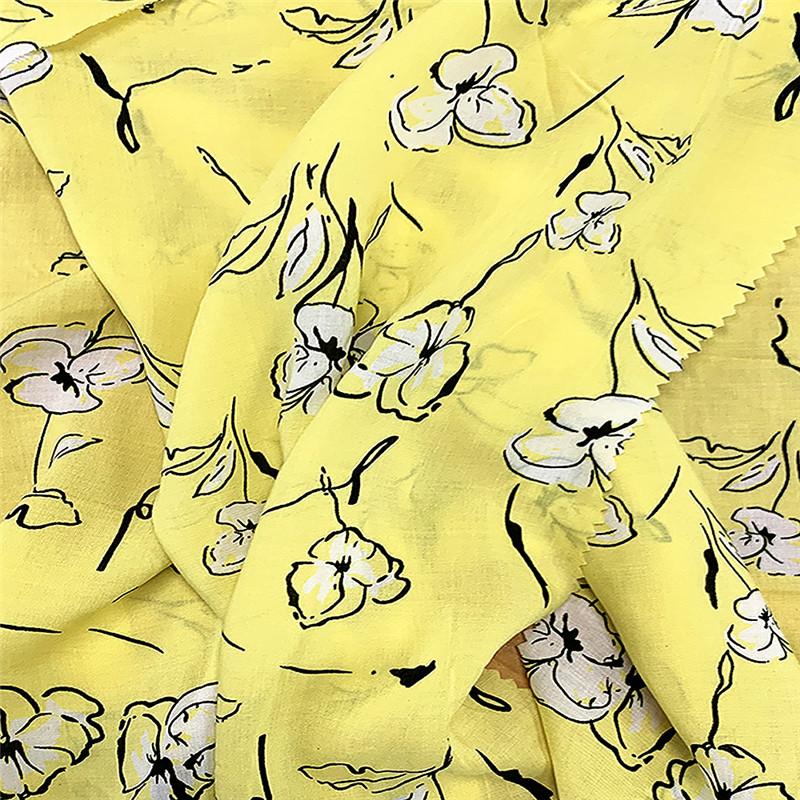 100 Rayon Printed Fabrics 2